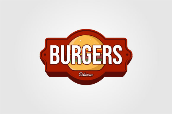 Vintage Burger Logo or Signs for Food Co Graphic Logos By lawoel