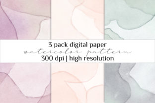 Print on Demand: Watercolor Digital Paper Pack Graphic Illustrations By Craft Point Art