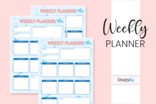 Print on Demand: Weekly Planner   Printable Graphic Print Templates By SnapyBiz