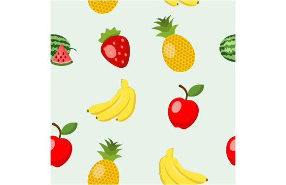 Fruit Seamless Pattern. Graphic Backgrounds By etinurhayati0586