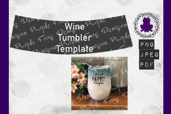 Wine Tumbler Template, Sublimation Blank Graphic Graphic Templates By Heather Terry