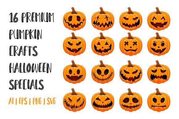 Print on Demand: 16 Premium Pumpkin Crafts Graphic Crafts By hai hai