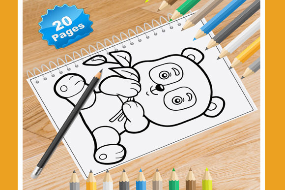 20 Panda Coloring Pages for Kids Graphic Coloring Pages & Books Kids By Coloring World