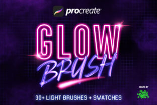 30+ Procreate Glow Brushes Graphic Brushes By Nurmiftah