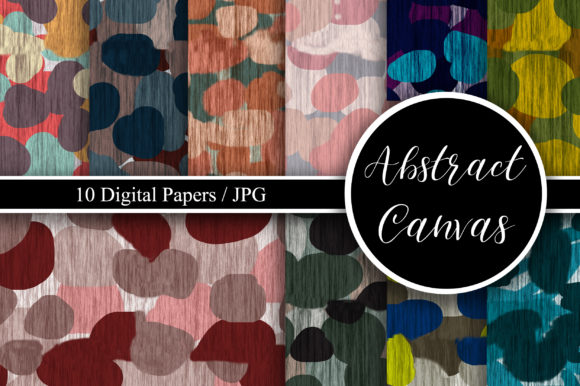 Abstract Canvas Seamless Pattern Graphic Backgrounds By PinkPearly