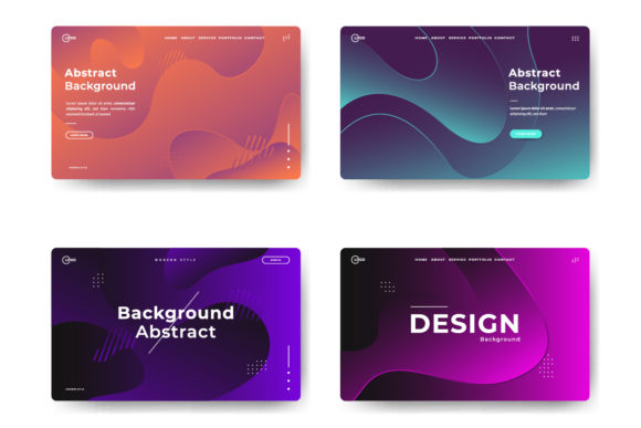 Abstract Trendy Landing Pages Graphic Backgrounds By Twiri