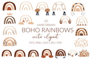 Boho Rainbow Svg Cricut. Rainbow Svg. Graphic Illustrations By LetsArtShop