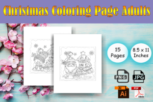 Print on Demand: Christmas Coloring Page Adults - KDP Graphic Coloring Pages & Books Adults By Sei Ripan
