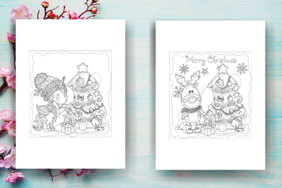 Print on Demand: Christmas Coloring Page Adults - KDP Graphic Coloring Pages & Books Adults By Sei Ripan - Image 2