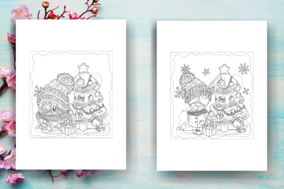 Print on Demand: Christmas Coloring Page Adults - KDP Graphic Coloring Pages & Books Adults By Sei Ripan - Image 3