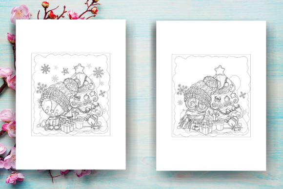 Print on Demand: Christmas Coloring Page Adults - KDP Graphic Coloring Pages & Books Adults By Sei Ripan - Image 4