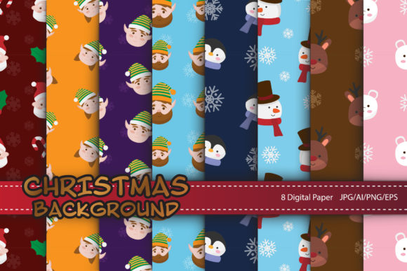 Print on Demand: Christmas Seamless for Digital Papers Gráfico Moldes Por IsaraDesign