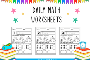 Daily Math Worksheets Set 2 Graphic 1st grade By Happy Kiddos