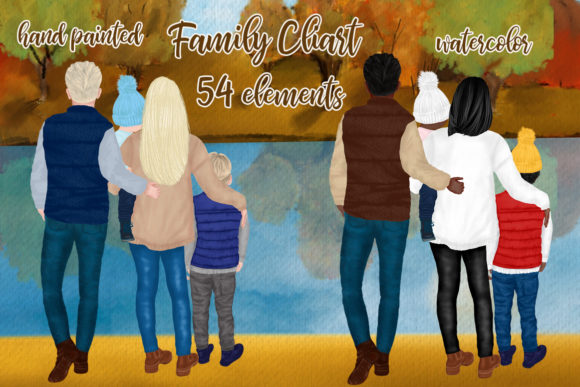 Fall Family Clipart Fall Landscape Graphic Illustrations By LeCoqDesign