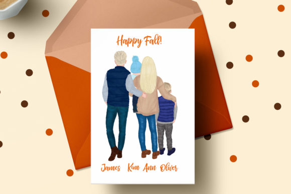 Fall Family Clipart Fall Landscape Graphic Preview