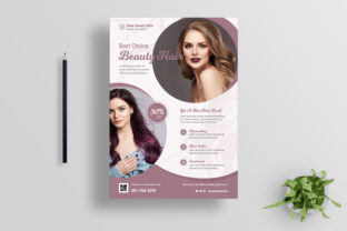 Hair Salon Flyer Design Graphic Print Templates By afahmy 1