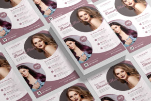 Hair Salon Flyer Design Graphic Print Templates By afahmy 3