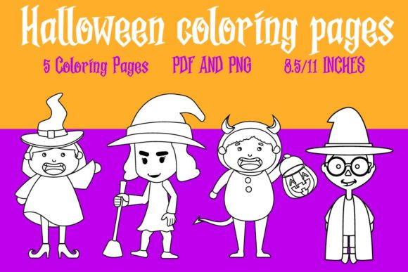 Print on Demand: Halloween Coloring Pages - Witches Graphic Coloring Pages & Books Kids By Mah Moud