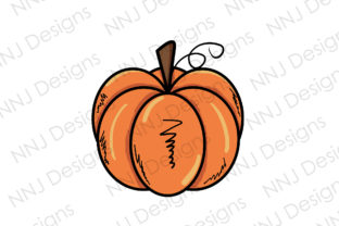 Print on Demand: Halloween Pumpkin Clipart PNG Cute Graphic Illustrations By NNJ Designs