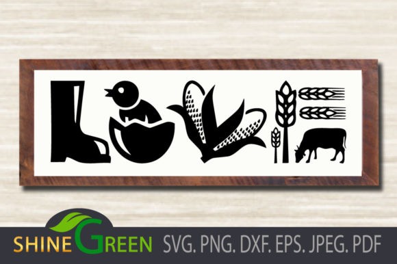 Print on Demand: Love Farmhouse Sign - Fall, Autumn Graphic Crafts By ShineGreenArt