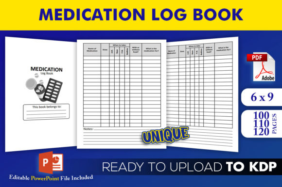 Print on Demand: Medication Logbook KDP Interior Template Graphic KDP Interiors By Beast Designer