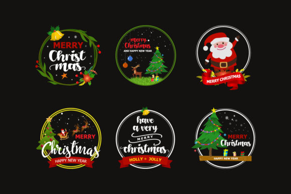 Print on Demand: Merry Christmas - SVG V2 Graphic Graphic Templates By xdCreative