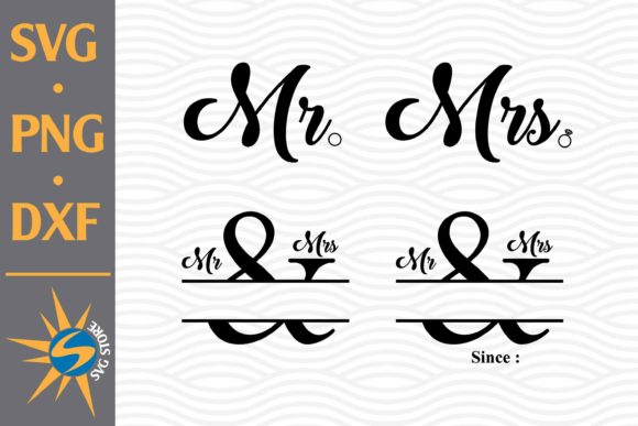 Download Mr and Mrs SVG Cut Files