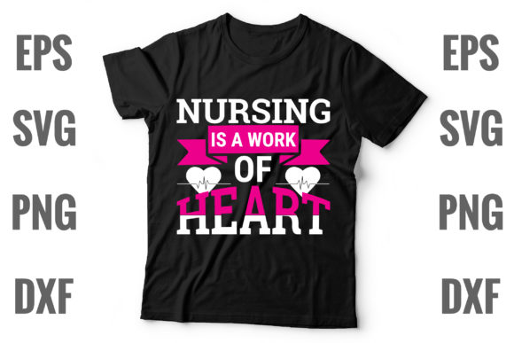 Print on Demand: Nursing is a Work of Heart Graphic Print Templates By Graphics Home.net