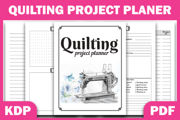 Print on Demand: Quilting Project Planner Ready for  KDP Graphic KDP Interiors By Fayne