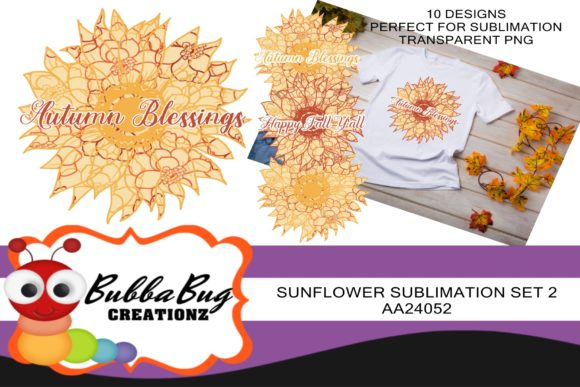Sunflower Sublimation Set 2 Graphic Crafts By BUBBABUG