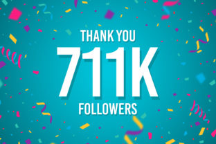 Thank You 711k Followers Graphic Backgrounds By Creative Mind