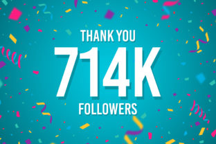 Thank You 714k Followers Graphic Backgrounds By Creative Mind