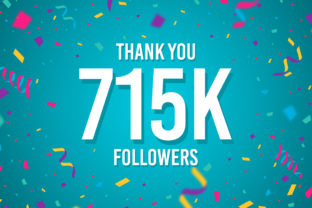 Thank You 715k Followers Graphic Backgrounds By Creative Mind