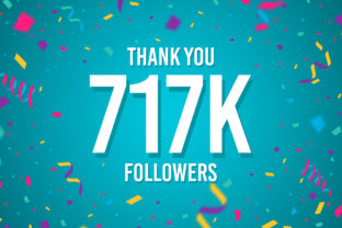 Thank You 716k Followers Graphic Backgrounds By Creative Mind