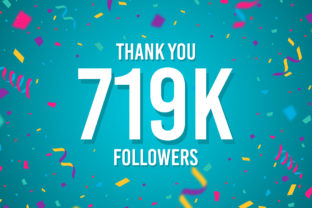 Thank You 719k Followers Graphic Backgrounds By Creative Mind