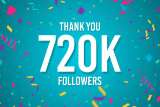 Thank You 720k Followers Graphic Backgrounds By Creative Mind
