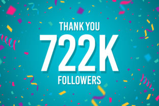 Thank You 722k Followers Graphic Backgrounds By Creative Mind