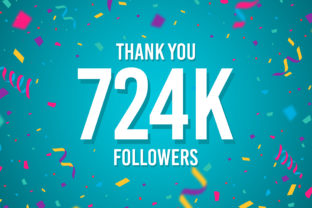 Thank You 724k Followers Graphic Backgrounds By Creative Mind