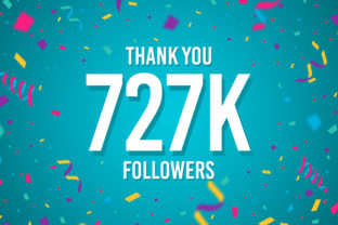 Thank You 727k Followers Graphic Backgrounds By Creative Mind
