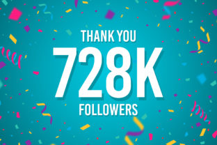 Thank You 728k Followers Graphic Backgrounds By Creative Mind
