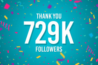 Thank You 729k Followers Graphic Backgrounds By Creative Mind