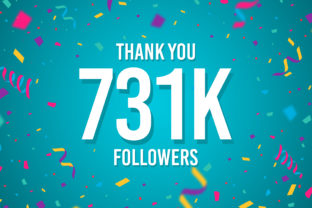 Thank You 731k Followers Graphic Backgrounds By Creative Mind