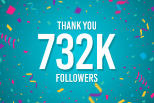 Thank You 732k Followers Graphic Backgrounds By Creative Mind