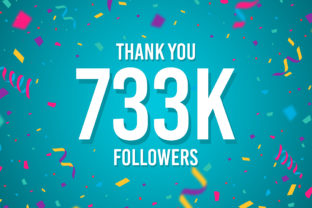 Thank You 733k Followers Graphic Backgrounds By Creative Mind