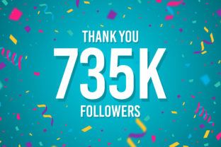 Thank You 735k Followers Graphic Backgrounds By Creative Mind