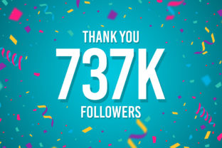 Thank You 737k Followers Graphic Backgrounds By Creative Mind