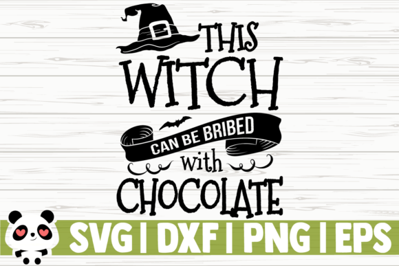 Print on Demand: This Witch Can Be Bribed with Chocolate Gráfico Ilustraciones Por CreativeDesignsLLC
