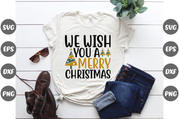 Print on Demand: We Wish a Merry Christmas Graphic Print Templates By Graphics Home.net