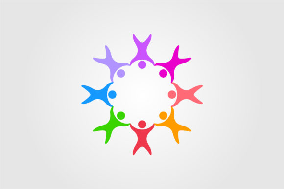 Circle People Family Together Human Graphic Objects By lawoel