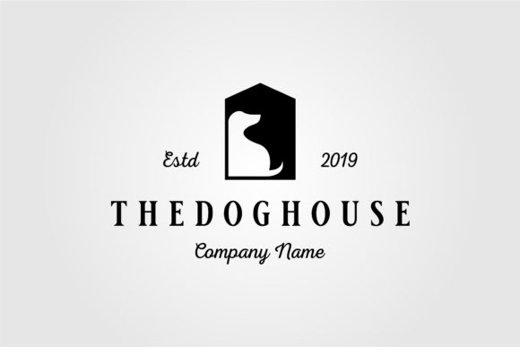 Dog House Pet Home Logo Vintage Vector Graphic Logos By lawoel